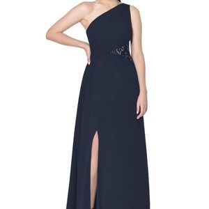Azazie Navy Bridesmaid Dress Size 8
